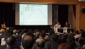 シンポジウムでは、テレビでお馴染みの森田正光さんと私で掛け合い漫才のようなトークを展開しました。